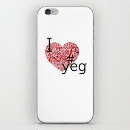 I Heart #YEG iPhone Skin