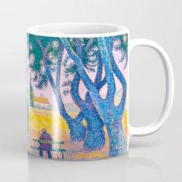 Paul Signac - Place des Lices, St. Tropez - Colorful Vintage Fine Art Coffee Mug