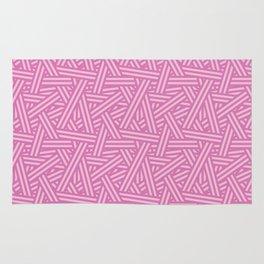 Interweaving lines in purple Rug