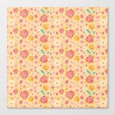 Peach Roses Canvas Print