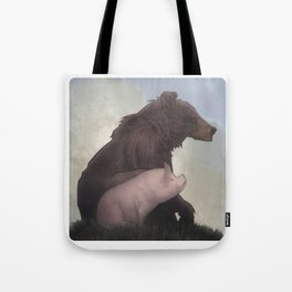Bear and Pig Tote Bag