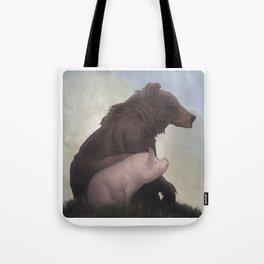 Bear and Pig Tote Bag