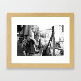 Street Photo - Black and White Framed Art Print