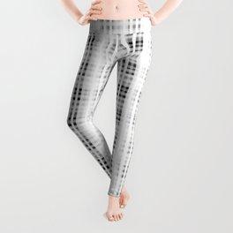 1000 Shades of White Tartan   Colorful Stripes Pattern   Leggings