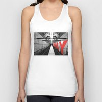 subway Tank Tops featuring LA subway by Vin Zzep