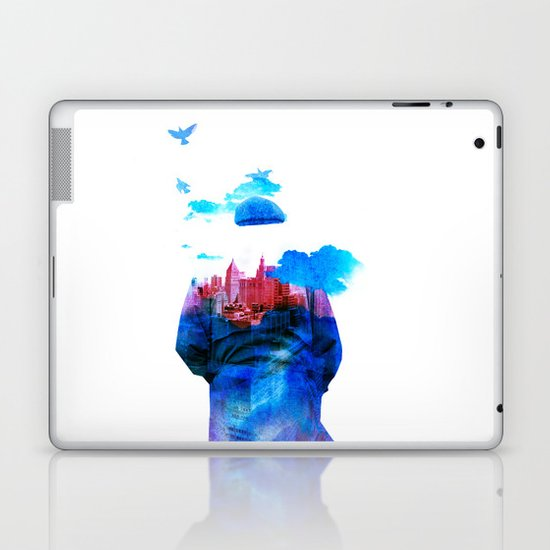 Get Away From Town (color version) Laptop & iPad Skin