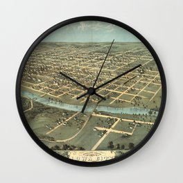 Iowa City 1868 Wall Clock