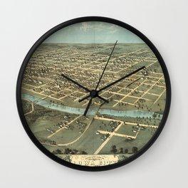 Iowa City 1868 Wall Clock