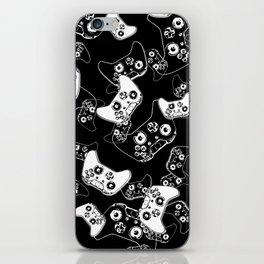 Video Game White on Black iPhone Skin