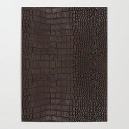 Alligator Brown Leather Print Poster