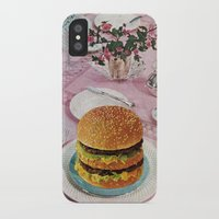 burger iPhone & iPod Cases featuring BURGER by Beth Hoeckel