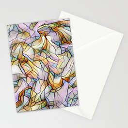 Pastel abstract Stationery Cards