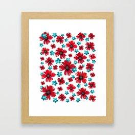 Carnations & Columbines Framed Art Print