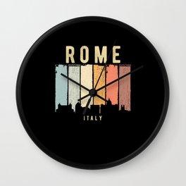 Rome Skyline Italy Wall Clock