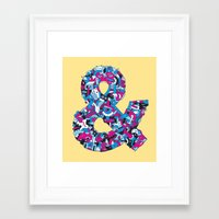 ampersand Framed Art Prints featuring Ampersand by Mister Phil