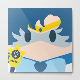 Sailor Mercury Block Metal Print