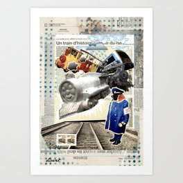 COLLAGE: Trains Art Print