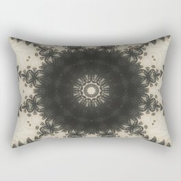 Black Lace Rectangular Pillow