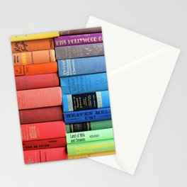 Vintage Book Rainbow Stationery Cards