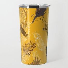 fall feathers Travel Mug