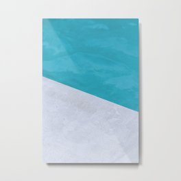 Poolside Playdate Metal Print