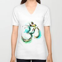 ohm V-neck T-shirts featuring Ohm by Abby Diamond