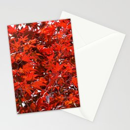 Japanese Red Maple Leaves Stationery Cards