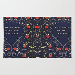 The Story Without An End Book Cover Rug