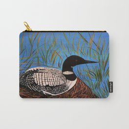 Loon on the Nest  Carry-All Pouch