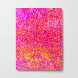 Mosaic Pink Metal Print
