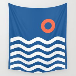 Nautical 03 Seascape Wall Tapestry