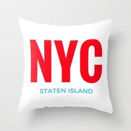 NYC Staten Island Throw Pillow