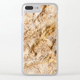 Limestone Textures 9 Clear iPhone Case