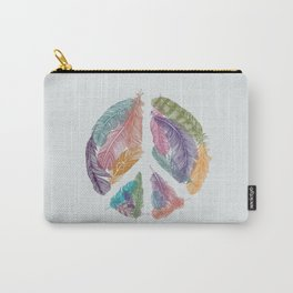 Feathers for Peace (Peace Sign) Carry-All Pouch