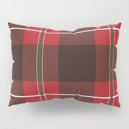 Red, Black and Green Striped Plaid Pillow Sham