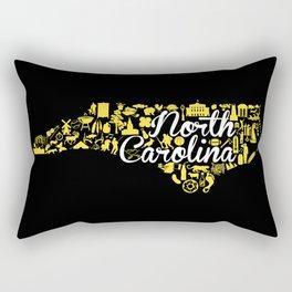 Appalachian State University North Carolina State - Black and Yellow University Design Rectangular Pillow