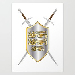 Crossed Swords and Shield Art Print