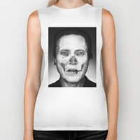 christopher walken Biker Tanks featuring CHRISTOPHER WALKEN SKULL by Maioriz Home