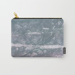 Light slate gray stained watercolor Carry-All Pouch