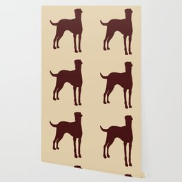 Doberman Dog  with dropping ears Silhouette Wallpaper