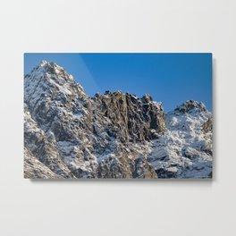 Fresh Snow-Alaskan Mountain Top Metal Print