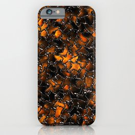 Ancient Amber Tiles Set in Gothic Metal iPhone Case