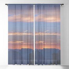 Colorful Sunset - North_Rim, Grand_Canyon, AZ Sheer Curtain