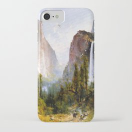 Bridal Veil Fall Yosemite Valley 1892 By Thomas Hill | Reproduction iPhone Case