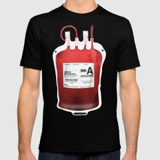 My Blood Type is A, for Awesome! *Classic* Mens Fitted Tee Black 2X-LARGE
