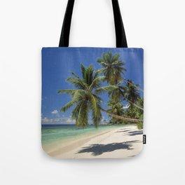 Palm beach, the Seychelles, La Digue island, Tote Bag