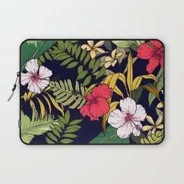 Tropical Island Oasis Floral Pattern Laptop Sleeve