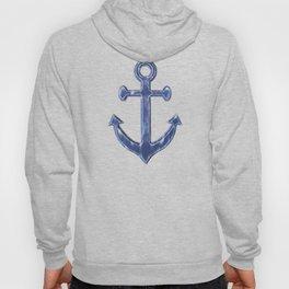 Navy Blue Anchor Pattern Hoody