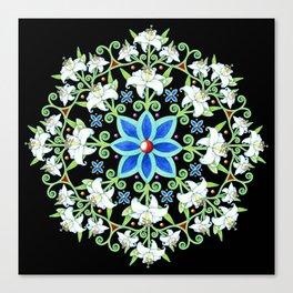 Folkloric Flower Crown Canvas Print