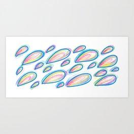 Rainbow Dew Drops Art Print